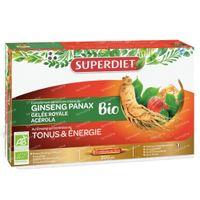Superdiet Gelée Royale - Ginseng - Acérola Bio 20x15 ml
