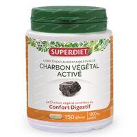 Superdiet Plantaardige Houtskool 150  capsules