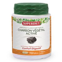 Super Diet Geactiveerde Plantaardige Houtskool 150  kapseln