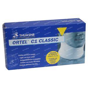 Thuasne Collier Cervical C1 Classic Blanc 8cm T2 1 pièce