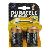 Image of Duracell Battery Plus lr20/mn1300 10603 2 pieces