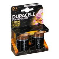Duracell Batterij Plus lr20/mn1300 10603 2 st