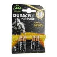 Duracell Batterij lr03/mn2400 10606 4 st