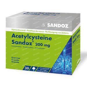 Acetylcysteïne Sandoz 200mg 30 zakjes