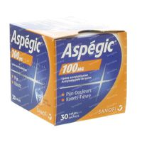 Aspégic 100mg - Pijn 30  zakjes