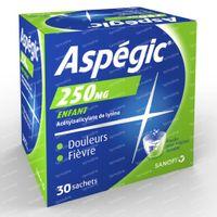 Aspégic 250mg - Pijn 30  zakjes