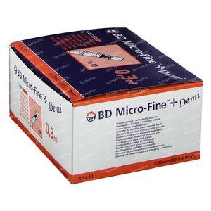 Wegwerpspuit 0,3 ml Bd Naald 30g Insuline 324826/320837 100 stuks