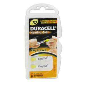 Duracell Easy Tab Hoorbatterij Da10 Geel 6 stuks