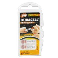 Duracell Easy Tab Hoorbatterij Da312 Bruin 6 st