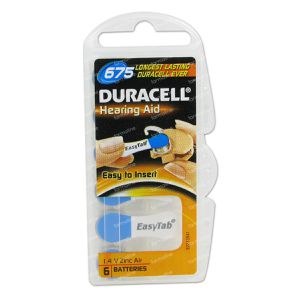 Duracell Easy Tab Hoorbatterij Da675 Blauw 6 pièces