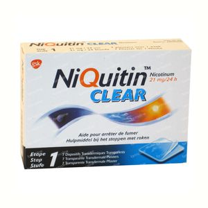 Niquitin Clear 21mg 7 patch