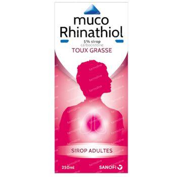 Muco Rhinathiol Adultes 5% - Toux Grasse 250 ml sirop