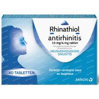 Rhinathiol Antirhinitis 10mg/4mg - Verkoudheid 40  tabletten