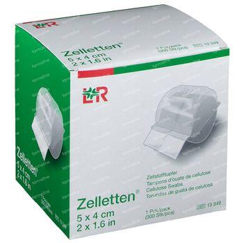 Lohmann & Rauscher Zelletten Tampons Cellulose 5x4cm 13349 300 pièces