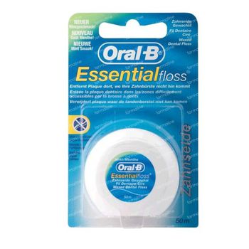 Oral B Essentiële Floss Gewaxt Munt 50 m