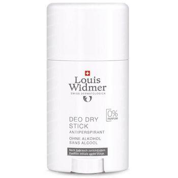 Louis Widmer Deo Dry Stick Antiperspirant Zonder Parfum 40 ml