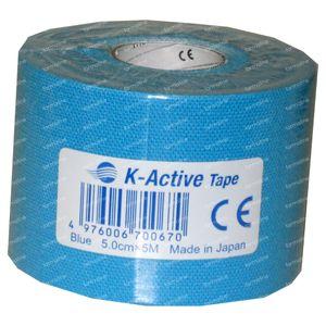 Naqi Kinesio-Tex Tape Adhesive Blauw 5cm x 4m 1 stuk