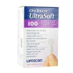 One Touch Lancettes Ultrasoft 100 pièces