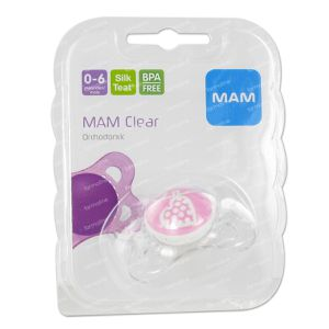 Dodie Mam Pacifier Clearline Mini Ulti 1 Age Single 1 item