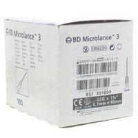 BD Microlance Aiguille Jetable 22g 1 1/2 0,7x40 100 st