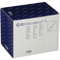 BD Microlance 3 Aiguilles 23G 1/4 RB 0,6x30 Mm Bleu 100 st