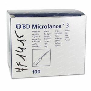 BD Microlance 3 Aiguilles 23G 1 RB 0.6x25Mm Bleu 10 pièces