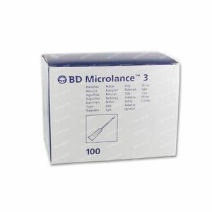 BD Microlance 3 Naalden 23G 1 RB 0.6x25Mm Blauw 100 stuks
