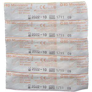 BD Microlance 3 Aiguilles 25G 1 RB 0,5x25 Mm 10 pièces