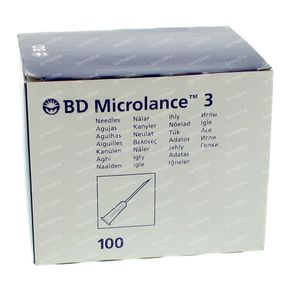 BD Microlance 3 Needles 25G 5/8 RB 0,5x16 Mm 100 pieces