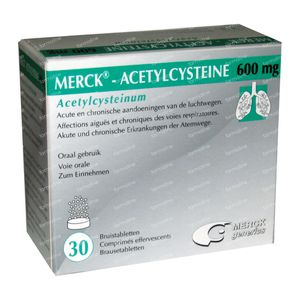 Acetylcysteïne Mylan 600mg 30 bruistabletten