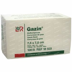 Gazin Gaaskompres 7.5 x 7.5cm 18503 100 stuks