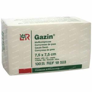 Gazin Compresse de Gaze 7.5 x 7.5cm 18503 100 pièces