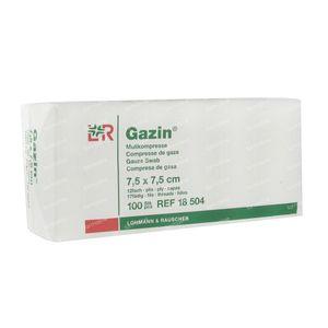 Gazin Gaaskompres 7.5 x 7.5cm 18504 100 stuks
