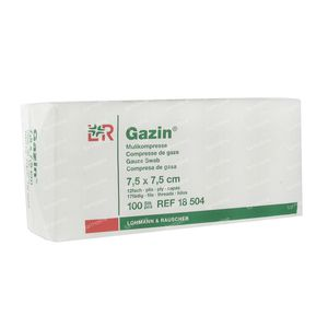 Gazin Gauze Swabs 7.5 x 7.5cm 18504 100 unidades