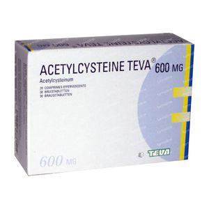 Acetylcysteïne Teva 600mg 30 bruistabletten