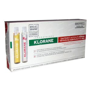 Klorane Anti-Chute Homme 72 ml ampoules