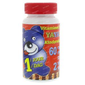Yayabar Multivitaminen Beertjes Bonbons 60 60 capsules