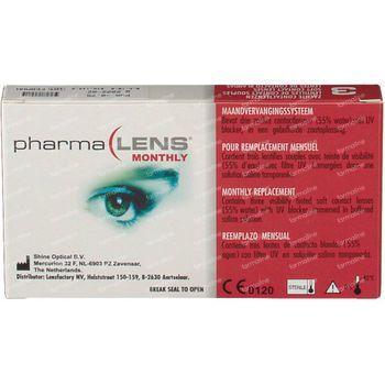 PharmaLens Lentilles (mois) (Dioptrie -0.75) 3 lentilles