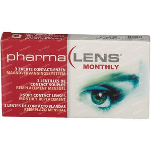 PharmaLens Lentilles (mois) (Dioptrie -2.25) 3 lentilles
