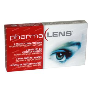 PharmaLens Month Lenses (Dioptre -2.50) 3 lenses