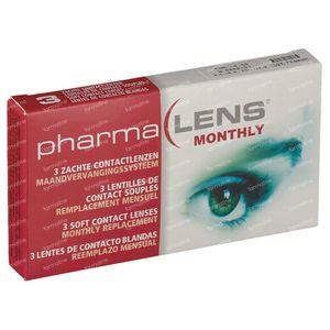 PharmaLens Monatslinsen (Dioptrie -4.50) 3 kontaktlinsen