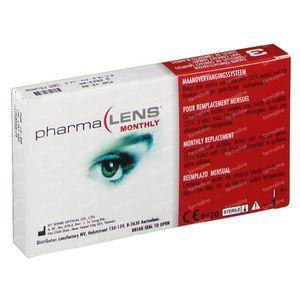 PharmaLens Lentilles (mois) (Dioptrie +2.00) 3 lentilles