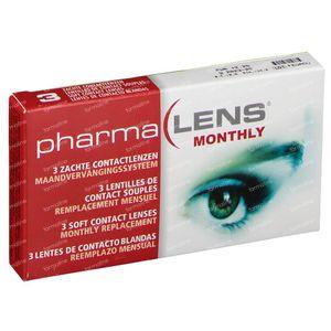 PharmaLens Monatslinsen (Dioptrie +2.25) 3 kontaktlinsen