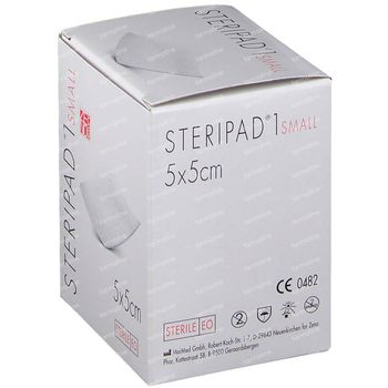 Steripad 1 KP Steriel Small 5cm x 5cm 40 stuks