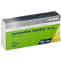 Loratadine Sandoz 10mg 30  tabletten