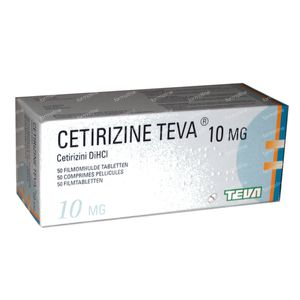 Cetirizine Teva 10mg 50 tabletten