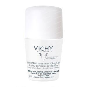 Vichy Deodorant Roller 48h Gevoelige Of Geëpileerde Huid 50 ml Roller