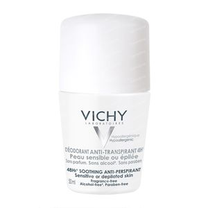 Vichy Deodorant Roll-On Pelle Sensibile O Depilata 50 ml Rullo