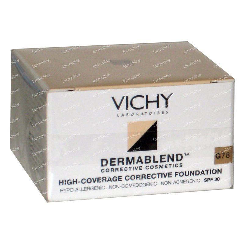 vichy dermablend correcteur teint g78 6 g commander ici en ligne. Black Bedroom Furniture Sets. Home Design Ideas