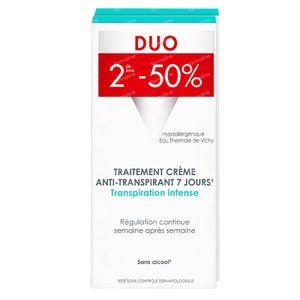 Vichy Deodorant Intense Anti-Transpiratie Crème 7 Dagen Duo 2x30 ml